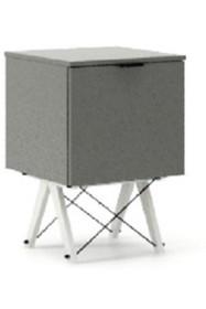 KONTENER KIDS ONE kolor GREY stelaż BUK WHITE  Praktyczny i pojemny kontener z półkami, idealny jako uzupełnienie biurka BASIC lub samodzielna szafka....