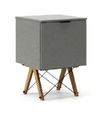 KONTENER KIDS ONE kolor GREY stelaż DĄB  Praktyczny i pojemny kontener z półkami, idealny jako uzupełnienie biurka BASIC lub samodzielna szafka....