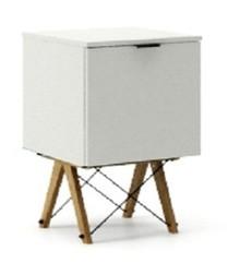 KONTENER KIDS ONE kolor LIGHT GREY stelaż DĄB  Praktyczny i pojemny kontener z półkami, idealny jako uzupełnienie biurka BASIC lub samodzielna szafka....
