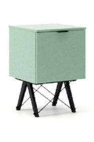 KONTENER KIDS ONE kolor MINT stelaż BUK BLACK  Praktyczny i pojemny kontener z półkami, idealny jako uzupełnienie biurka BASIC lub samodzielna szafka....