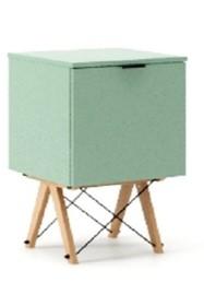 KONTENER KIDS ONE kolor MINT stelaż BUK (standard)  Praktyczny i pojemny kontener z półkami, idealny jako uzupełnienie biurka BASIC lub samodzielna...