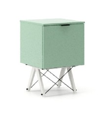 KONTENER KIDS ONE kolor MINT stelaż BUK WHITE  Praktyczny i pojemny kontener z półkami, idealny jako uzupełnienie biurka BASIC lub samodzielna szafka....