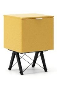 KONTENER KIDS ONE kolor LIGHT MUSTARD stelaż BUK BLACK  Praktyczny i pojemny kontener z półkami, idealny jako uzupełnienie biurka BASIC lub samodzielna...
