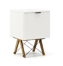 KONTENER KIDS ONE kolor WHITE stelaż DĄB  Praktyczny i pojemny kontener z półkami, idealny jako uzupełnienie biurka BASIC lub samodzielna szafka....