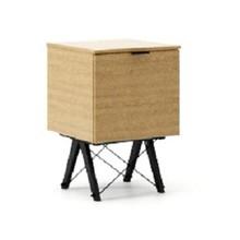KONTENER KIDS ONE LUXURY WOOD blat DĄB stelaż BUK BLACK  Praktyczny i pojemny kontener z półkami, idealny jako uzupełnienie biurka BASIC lub...