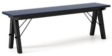 Ławka do stołu BASIC kolor NAVY stelaż BUK BLACK  Uzupełnienie stołu BASIC lub samodzielna ławka w duchu SCANDI, idealna do jadalni lub kuchni....