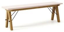 Ławka do stołu BASIC kolor DUSTY PINK stelaż DĄB  Uzupełnienie stołu BASIC lub samodzielna ławka w duchu SCANDI, idealna do jadalni lub kuchni....