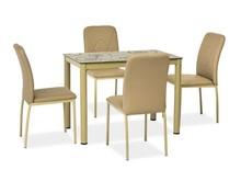 Stół DAMAR 100x60 - ciemny beż