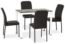 Stół DAMAR 100x60 - czarny/biały