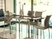 Stół rozkładany GD-018 110x74 - ciemny beż