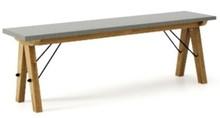 Ławka do stołu BASIC kolor GREY stelaż DĄB  Uzupełnienie stołu BASIC lub samodzielna ławka w duchu SCANDI, idealna do jadalni lub kuchni. Wykonana...