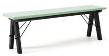 Ławka do stołu BASIC kolor MINT stelaż BUK BLACK  Uzupełnienie stołu BASIC lub samodzielna ławka w duchu SCANDI, idealna do jadalni lub kuchni....