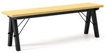 Ławka do stołu BASIC kolor LIGHT MUSTARD stelaż BUK BLACK  Uzupełnienie stołu BASIC lub samodzielna ławka w duchu SCANDI, idealna do jadalni lub...