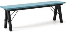 Ławka do stołu BASIC kolor OCEANIC stelaż BUK BLACK  Uzupełnienie stołu BASIC lub samodzielna ławka w duchu SCANDI, idealna do jadalni lub kuchni....