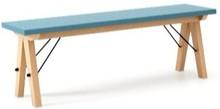 Ławka do stołu BASIC kolor OCEANIC stelaż BUK (standard)  Uzupełnienie stołu BASIC lub samodzielna ławka w duchu SCANDI, idealna do jadalni lub...