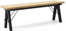 Ławka do stołu BASIC kolor RAW OAK stelaż BUK BLACK  Uzupełnienie stołu BASIC lub samodzielna ławka w duchu SCANDI, idealna do jadalni lub kuchni....