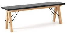 Ławka do stołu BASIC kolor WHITE stelaż BUK WHITE  Uzupełnienie stołu BASIC lub samodzielna ławka w duchu SCANDI, idealna do jadalni lub kuchni....