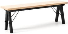 Ławka do stołu BASIC LUXURY WOOD blat BUK stelaż BUK BLACK  Uzupełnienie stołu BASIC lub samodzielna ławka w duchu SCANDI, idealna do jadalni lub...
