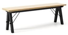 Ławka do stołu BASIC LUXURY WOOD blat DĄB stelaż BUK BLACK  Uzupełnienie stołu BASIC lub samodzielna ławka w duchu SCANDI, idealna do jadalni lub...