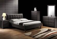 Tapicerowane łóżko SAMARA czarny