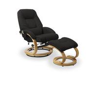 Fotel MATADOR z podnóżkiem - czarny