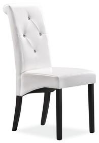 Dostępne warianty kolorystyczne:  - Venge/biały  Wymiary: - Wysokość: 96 cm - Wysokość siedziska: 45 cm - Szerokość: 46 cm - Głębokość: 41 cm...