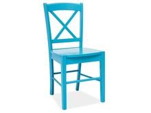 Krzesło drewniane CD-56 - niebieski