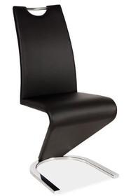 Krzesło H-090 chrom - czarny