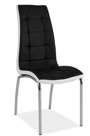 Krzesło H-104 - czarny/biały