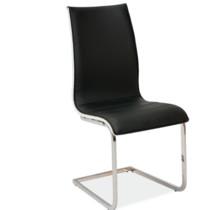 Krzesło tapicerowane H-133 ekoskóra - czarny/biały