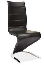 Krzesło H-134 - czarny/biały