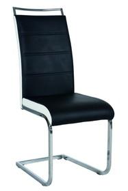 Krzesło H-441 ekoskóra - czarny/biały