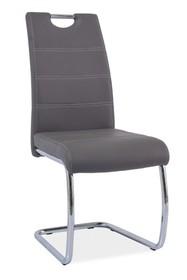 Krzesło H-666 ekoskóra - szary