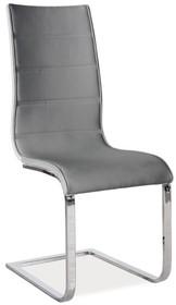 Krzesło H-668 - szary/biały