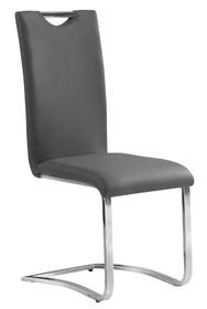 Krzesło H-790 ekoskóra - szary
