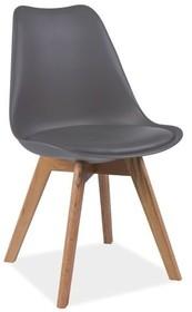 Krzesło KRIS dąb - szary