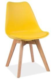 Krzesło KRIS dąb - żółty
