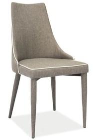 Krzesło SOREN tkanina/metal - szary