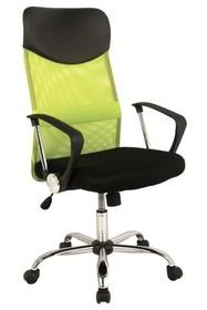 Fotel obrotowy Q-025 - czarny/zielony