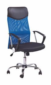Fotel biurowy VIRE - niebieski