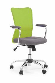 Fotel biurowy ANDY - szaro-zielony