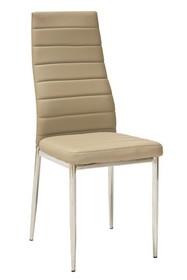 Krzesło H-261 - chrom/ciemny beż