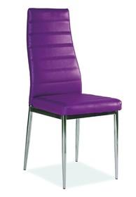 Krzesło H-261 - chrom/fioletowy