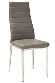Krzesło H-261 - chrom/szary