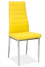 Krzesło H-261 - chrom/żółty