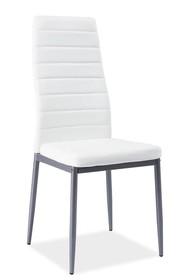 Krzesło H-261 bis - aluminium/biały