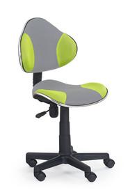 Fotel młodzieżowy FLASH 2 - popielato-zielony