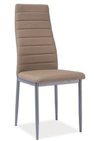Krzesło H-261 bis - aluminium/ciemny beż