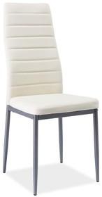 Krzesło H-261 bis - aluminium/kremowy