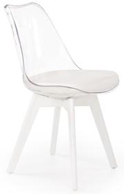 Krzesło K245 - biały/przezroczysty